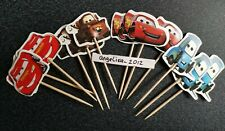 12 X Cars Cake Picks / Cupcake Toppers Kids Party Decorations Mater, Guido