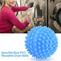 4x Reusable Laundry Washing Machine Dryer Balls Drying Fabric Softener Ball Set