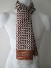 Vintage Mens Geometric/Patterned Silk Scarf Dandy/Indie (9891E)
