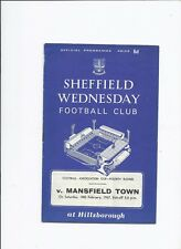 Sheffield Wednesday v Mansfield Town 18 February 1967 FA Cup 4th Round