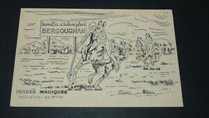 CARTE PUBLICITE 1910-1920 SEMELLES TALONS BERGOUGNAN GAULOIS IMAGE MAGIQUE POLO