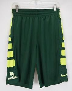 Nike Dri-Fit Baylor University Active Gym Shorts Green & Yellow Men's Small