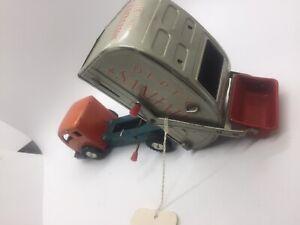 Vintage Tin Toy Japin Sanitation Trash Truck