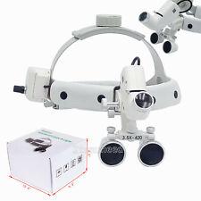 35x Medical Surgical Dental Binocular Loupes Headband Magnifier Led Headlight