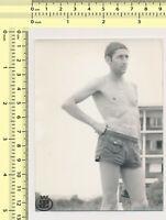 Shirtless Male Swimmer Jock Hunk Speedo Sports Hunk Guy PHOTO 4X6 C420
