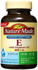 Nature Made Vitamin E 400 I U Soybean Oil 100 Liquid Softgels Anti-Aging Japan