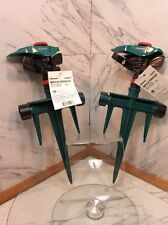 Lot of 2 Gilmour 193Mpsgf 4,000-sq ft Impulse Spike Lawn Sprinkler
