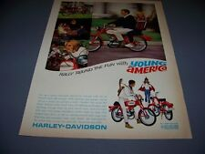 VINTAGE..1966 HARLEY DAVIDSON RALLY 300 50 CC...1-PAGE ORIGINAL SALES AD..(558K)