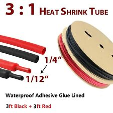 14 Heat Shrink Tubing Kit 31 Black Amp Red Wire Wrap Cable Waterproof Adhesive