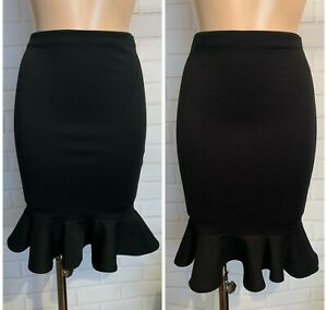 Ladies Women Pencil Fishtail Knee Office Smart Causal Skirt Size 10 -20
