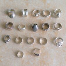 ~Vintage~ Mexico 925 Sterling Silver Rings Jewelry Lot