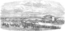 LEICS. Croxton Park Races, antique print, 1853