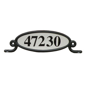 Reflective, Plastic, Address Number Plaque, Black
