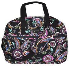 NEW Vera Bradley BANDANA SWIRL Print Cotton Medium Traveler Weekender Travel Bag