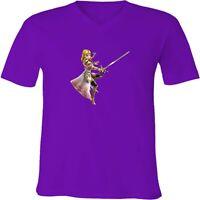 Nintendo The Legend of Zelda Princess Unisex Men Women Video Game V-Neck T-Shirt