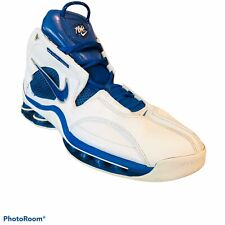 Nike Flight Systems Basketball Shoes Mens 18 Blue White Rare Mesh Leather 2004
