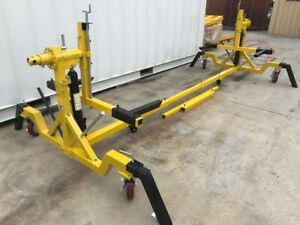 CAR ROTISSERIE 4000 lbs, 1800 kg  360 DEGREE, 200 mm braked wheels   (CRMY)