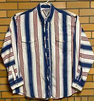Cowboys' Turtle Association by Roper Shirt Men's XL Button Down Striped Cowboy
