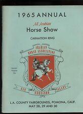 1965 Annual All Arabian Horse Show PROGRAM Carnation Ring San Fernando Valley