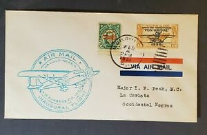 1933 Iloilo Negros Occidental Philippine Islands First Flight Air Mail Cover