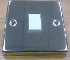 Volex Polished Steel 20a DP Switch VX1070PS
