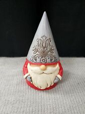 Jim Shore 2020 Nordic Noel Gnome Grey Floral Hat-Jolly Jultomten 6006625