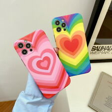 Shockproof Colorful Heart Soft Phone Case For iPhone 12 11 Pro Max XS XR X Cover