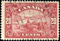 Used Canada 1929 20c F-VF Scott #157 King George V Scroll Issue