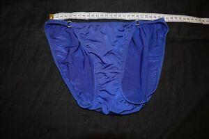 womens vintage lingerie dark angel blue nylon panties size s