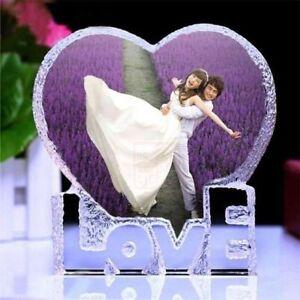 Personalized Custom Crystal Glass Heart Photo (Acrylic Frame updated) Wedding