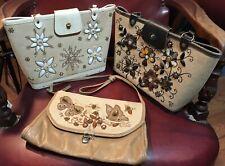 3 Vintage Enid Collins,collins Of Texas Purse Handbag Mcm Bejeweled Repair Lot