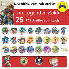25PCS NFC Amiibo Coin Cards for Nintendo Switch & Wii U The Legend of Zelda Link