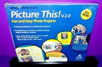 Picture This V.2.0 Fun Easy Photo Projects PC CD ROM Brand New B596