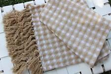 Cotton Waffle Throw Beige Hampton Star Decor Tassel Sofa Spread Bed Cover Blanke