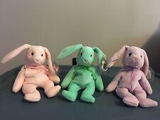 Beanie Baby Bunny Trio