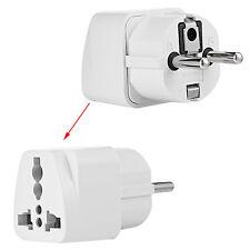 AU Australia US UK to EU Europe Wall Socket Power Adapter Plug Travel Converter