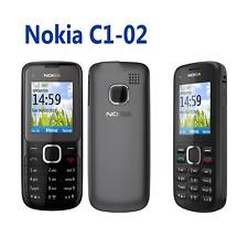 Nokia C1-02 Unlocked Mobile Phone Free Sim MP3 FM GSM Bluetooth Black