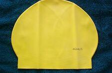 New in Bag AQUALIS Yellow Latex Swim Cap - Swimming
