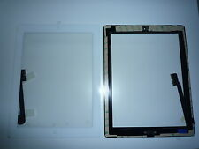 KIT Touch screen touchscreen per Ipad 3 bianco vetro +tasto home+adesivo colla