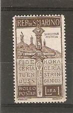 SAN MARINO @   1923  MLH   SASSONE 97    € 18.00  FOR * @ San.12