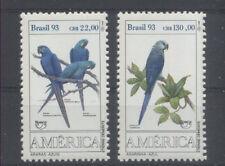 OISEAU PERROQUET Brésil 2 val de 1993 ** - BIRD VOGEL PARROT PAPAGEI