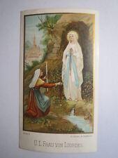 Unsere Liebe Frau von Lourdes / Andachtsbild Heiligenbild