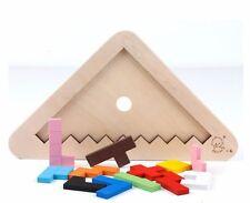 Wooden Tangram Developmental Brain Teaser Puzzle Tetris Game kids Baby Toy