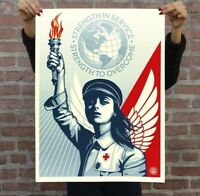 Shepard Fairey Obey-STRENGTH AND HOPE ANGEL-PANDEMIC Print RARE obey banksy