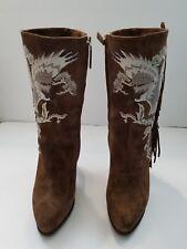 Ralph Lauren Collection Noette Brown Suede Mid-Calf Boots 38.5 8/8.5 $950 NEW