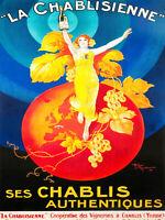 print  poster framed canvas vintage champagne Paris lady painting art 1899