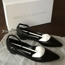 "NEW Manolo Blahnik Kids, Girls Ballerine ""RIMA"" Sling sz35 BLACK NERO € 645"