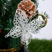 10Pcs Christmas Tree Xmas Butterfly Decorations Baubles Party Wedding Ornament