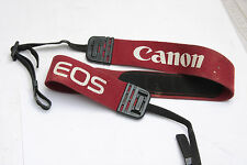 "Canon 1.5"" Nylon Web EOS Red Camera Strap 3/8"" Loop - USED C569"
