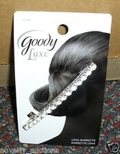 G54   GOODY LUXE LENA BARRETTE  WITH CLEAR GEMS HAIR CLIP #47408